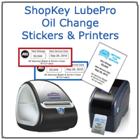 Oil Change Sticker Printer >> Shopkey Supplies